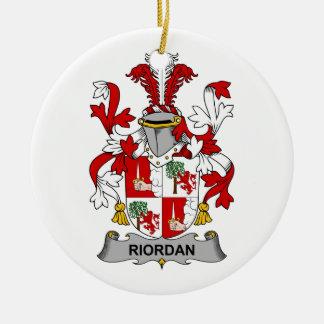 CREST van de Familie van Riordan Rond Keramisch Ornament