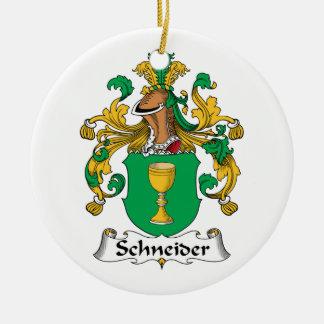 CREST van de Familie van Schneider Rond Keramisch Ornament
