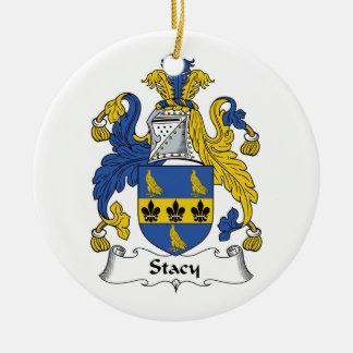 CREST van de Familie van Stacy Rond Keramisch Ornament