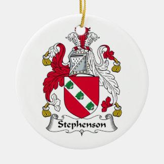 CREST van de Familie van Stephenson Rond Keramisch Ornament