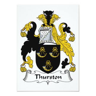CREST van de Familie van Thurston Kaart