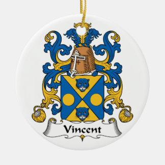CREST van de Familie van Vincent Rond Keramisch Ornament
