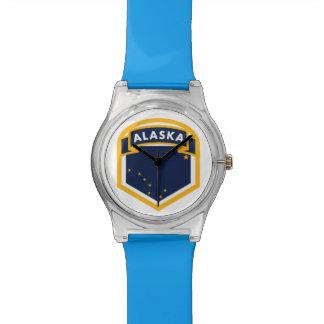 CREST van de Vlag van de Staat van Alaska AK Horloge