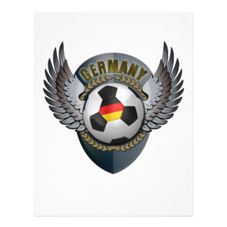 CREST van het Voetbal van Duitsland Flyer 21,6 X 27,9 Cm