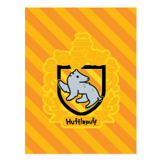 CREST van Hufflepuff van de cartoon Briefkaart