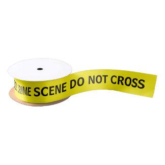 Crime Scene Do Not het Lint van de Cross Stijl van Satijnen Lint