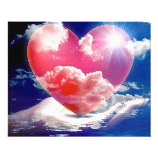 cristallo Di cuore Flyer 11,4 X 14,2 Cm