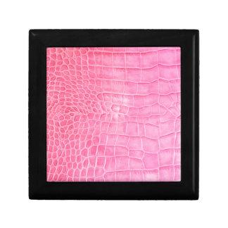 Croco Roze Decoratiedoosje