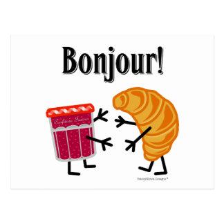 Croissant en Jam - Bonjour! Briefkaart