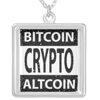 Crypto van Altcoin van Bitcoin Zilver Vergulden Ketting