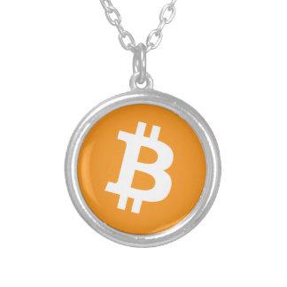 Crypto van Bitcoin het Logo van de Munt Zilver Vergulden Ketting