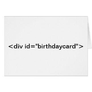 """CSS <div id=""""birthdaycard""""> De Kaart van de"""