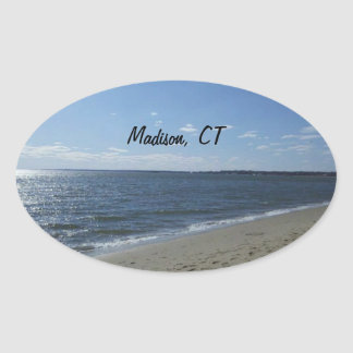 CT Connecticut Hammonasset van Madison Strand Ovaalvormige Stickers