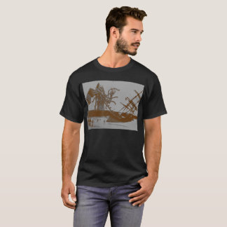 Cthulhu vernietigt T-shirt