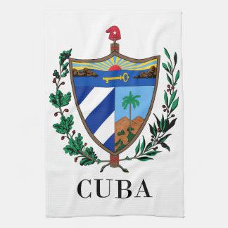 CUBA - symbool/wapenschild/vlag/kleuren/embleem Handdoek