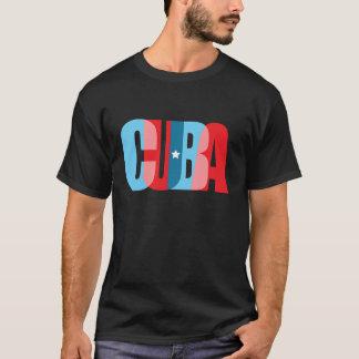 CUBA - trendy tekstueel ontwerp T Shirt