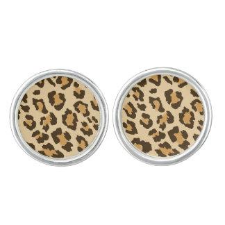 Cufflinks van de Druk van de luipaard Manchetknopen