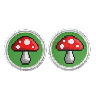 Cufflinks van de Paddestoel van het pixel Manchetknopen