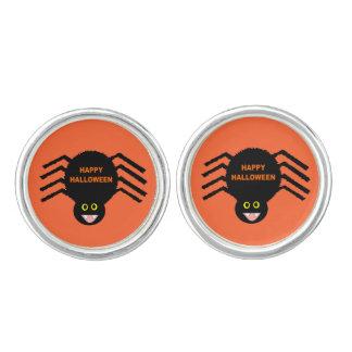 Cufflinks van de Spin van Halloween Zwarte Manchetknopen
