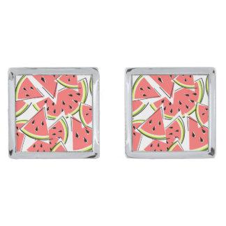 Cufflinks van de watermeloen verzilverde manchetknopen
