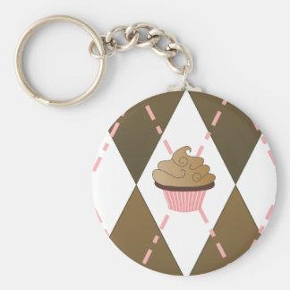 Cupcake Argyle Keychain Sleutel Hangers
