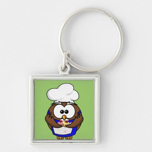 cupcake chef-kokuil sleutelhangers