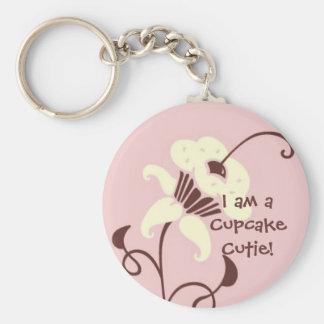 Cupcake Cutie Keychain Basic Ronde Button Sleutelhanger