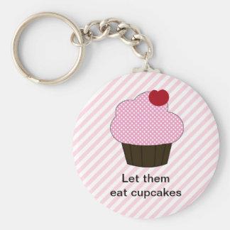 Cupcake Keychain Basic Ronde Button Sleutelhanger