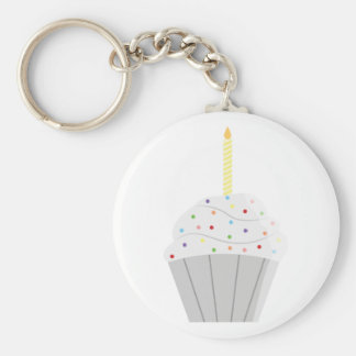 Cupcake keychain. basic ronde button sleutelhanger