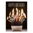 Cupcake met de Kaart van de Verjaardag van de