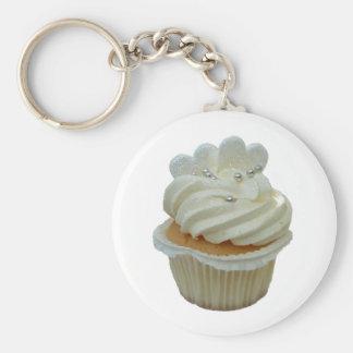 cupcake met harten keychain sleutel hanger