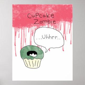 Cupcake themed poster - 'Cupcake zombie
