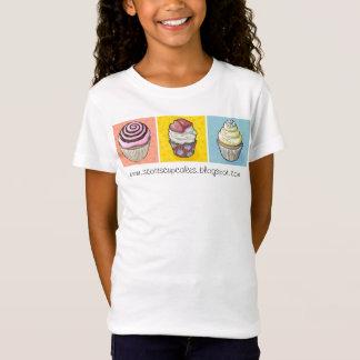 cupcake trio primaire kleuren t shirt