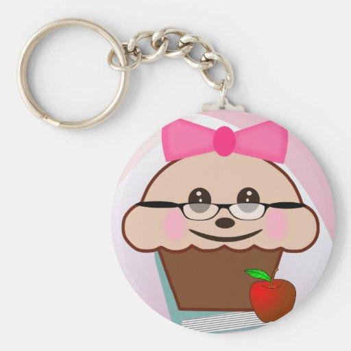 Cupcake voor Leraar Sleutel Hanger