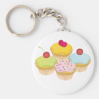 Cupcakes Basic Ronde Button Sleutelhanger