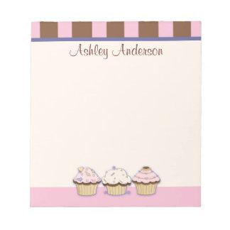 Cupcakes en de Persoonlijke Blocnote van Strepen