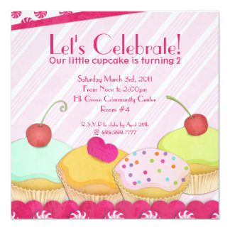 Cupcakes Galore! De Uitnodiging van de Partij van
