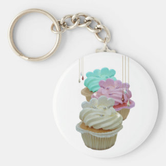 Cupcakes met Bling! Basic Ronde Button Sleutelhanger