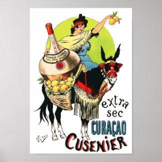 Curacao Cusenier 1899 Vintage Reclame Poster