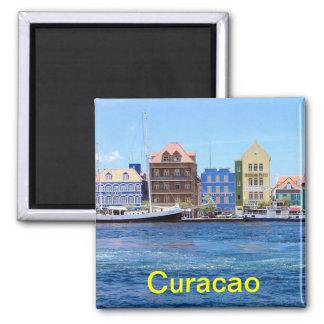 Curacao koelkastmagneet vierkante magneet