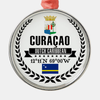 Curaçao Zilverkleurig Rond Ornament