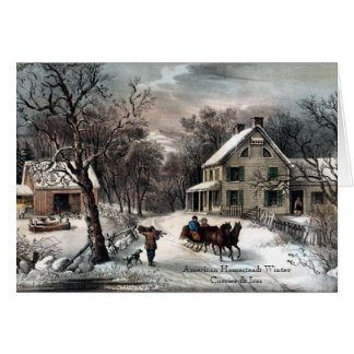 Currier & Ives - Wenskaart - de Winter van de
