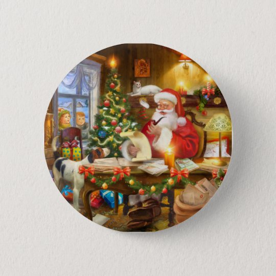 Cute holiday Christmas Ronde Button 5,7 Cm