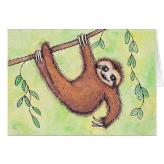 Cute Sloth Briefkaarten 0
