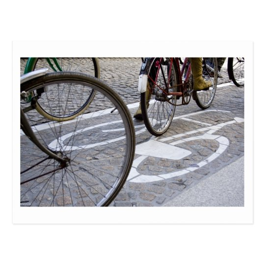 Cyclists on bicycle path briefkaart