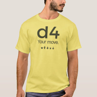 D4 het Overhemd van het Schaak: Reeks 1 T Shirt