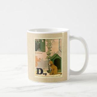 D is voor Hond - Golden retriever en Terrier Koffiemok