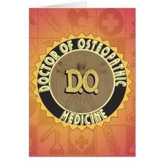 D.O. OSTEOPATHIE van de ARTS van het Man van het Kaart