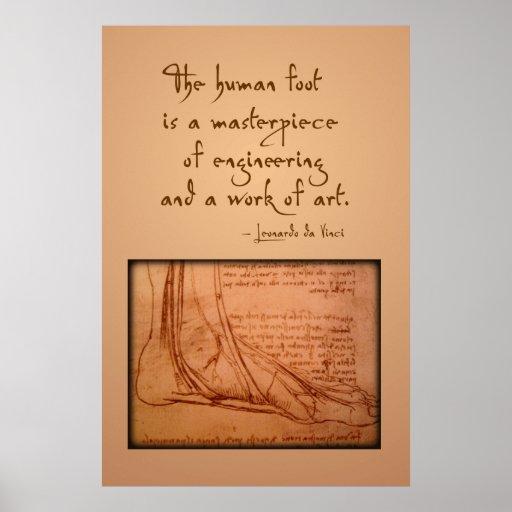 """da Vinci: De """"menselijke voet is… """" Plaat"""