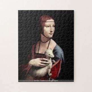 Da Vinci - Portret van een Dame met Hermelijn Puzzel